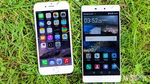 Apple iPhone 6 vs Huawei P8 - hands on - Android Authority