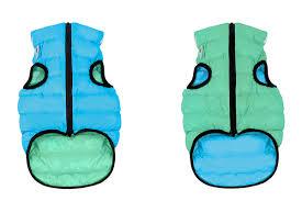 Двусторонняя <b>курточка</b> для собак <b>AiryVest</b> Lumi салатово-голубая ...