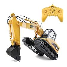 <b>Huina 1550 Rc Crawler</b> 15ch 2 .4g 1 :14 Metal Excavator Charging ...