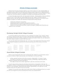 article critique example apa articles to critique drureport web fc com