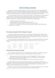 article critique example apa articles to critique drureport web fc com