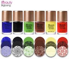 <b>BeautyBigBang 9ml</b> Stamping <b>Nail</b> Polishes Printing Varnish ...