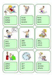English worksheets: Irregular Verbs worksheets, page 19