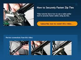 How to Securely <b>Fasten Zip Ties</b> - Bicycle Tutor Video
