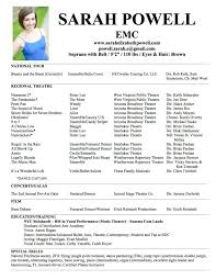 create a theatre resume how to fix your resume in easy steps zumba create a theatre resume