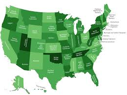 most popular job by state map business insider