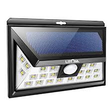 LITOM Original <b>Solar Lights Outdoor</b>, 3 Optional Modes Wireless ...