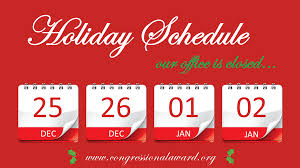 holiday office closures congressional award holidayofficeschedule2014