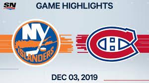 NHL Highlights | Islanders vs. Canadiens – Dec. 3, 2019 - YouTube
