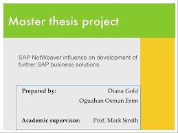 Thesis Presentation  SAP NetWeaver influence on development of furthe    SlideShare