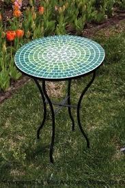 mosaic table malibu patio glass table