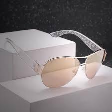 Transparent White <b>Aviation Sunglasses Women</b> Brand Unique Wide ...