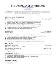 financial analyst resume samples templates tips onlineresume financial analyst resume template