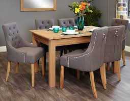baumhaus mobel oak 150cm dining table baumhaus mobel oak dining set with 6 stone fabric upholstered baumhaus mobel solid oak mounted widescreen