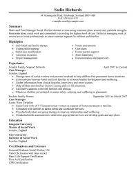resume for case manager example sample resumes nurse case sample nurse case manager resume