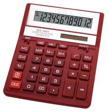 Купить <b>Калькулятор CITIZEN SDC</b>-<b>888XRD</b>, красный в интернет ...