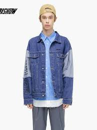 <b>VIISHOW Streetwear</b> Men Jackets Brand Denim Jackets Men ...