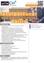 centre for extension education enhancing interpersonal and administrative skills sl