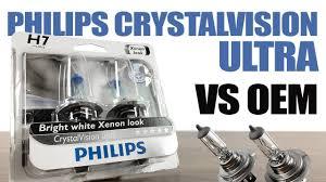 Philips CrystalVision Ultra vs OEM / Original Headlight Bulbs ...