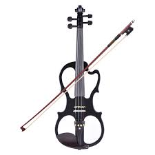 ammoon VE 201 <b>Full Size 4/4 Solid</b> Wood Silent Electric Violin ...
