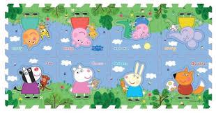 Купить Коврик-пазл РОСМЭН <b>Peppa Pig Пеппа и</b> друзья (30130 ...