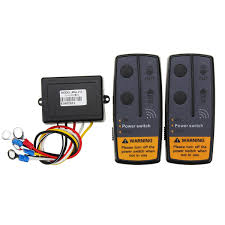 <b>2.4G 12V Digital</b> Wireless Winch Remote Control Recovery Kit For ...