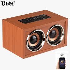 Ubit W4 Classic <b>Wood</b> Mini <b>Bluetooth Speaker</b> Dual Loudspeakers ...