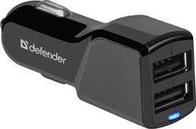 <b>Автомобильный адаптер Defender UCA-34</b> 2xUSB, 5V/3.4А (83834)