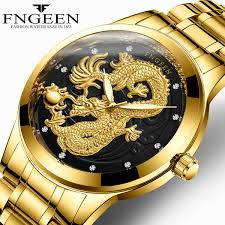 <b>FNGEEN</b> Watch Man 2018 <b>Top Brand Luxury</b> Gold Dragon Watches ...