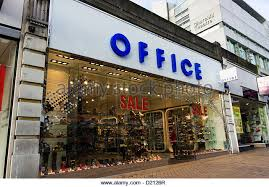 a branch of office shoe shops stock image branch office shoe
