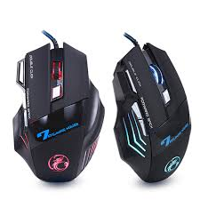 Ergonomic Wired Gaming Mouse 7 Button 5500 DPI <b>LED USB</b> ...