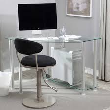 large size of desk small modern corner computer desk clear tempered glass panels metal frame beautiful office desk glass