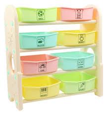 <b>Стеллаж для игрушек</b> с ящиками Edu Play, 4 полки цветной