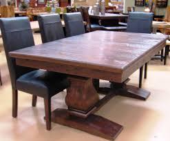 dining table expanding metal pedestal base