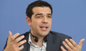 Alexis Tsipras, described as 'Greece's Che Guevara' in the German press, on his charm offensive in Berlin. Photograph: Sean Gallup/Getty Images - Alexis-Tsipras-Speaks-In--008