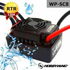 120A <b>Hobbywing EZRUN WP SC8 Waterproof</b> Brushless ESC ...