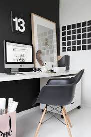 black and white office with individual calendar day chalkboard decals black and white office