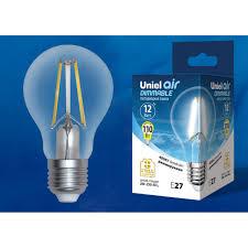 Светодиодная <b>лампочка Uniel LED</b>-A60-12W AIR DIMMABLE UL ...