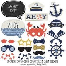Amazon.com: PAPER JAZZ <b>21 pcs</b> Ahoy boy <b>Nautical</b> Party <b>Photo</b> ...