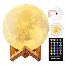 Amazon.com: Moon <b>Lamp</b>, DTOETKD 16 Colors 3D Printing <b>LED</b> ...