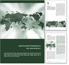 royalty  world map microsoft word template in green the world map word template in green for microsoft word