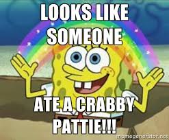 Looks like SOMEONE Ate a CRABBY pattie!!! - Spongebob | Meme Generator via Relatably.com