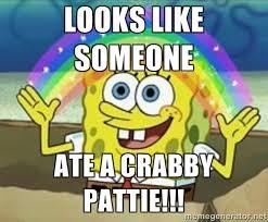 Looks like SOMEONE Ate a CRABBY pattie!!! - Spongebob | Meme Generator via Relatably.com