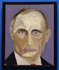 the artist formerly known as president george w bush george w bush s portrait of vladimir putin epa larry w smith
