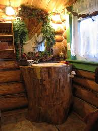 awesome log cabin bathroom decorating ideas rustic with natural tree trunk distressed wood bathroom vanity single attractive vanity lighting bathroom lighting ideas