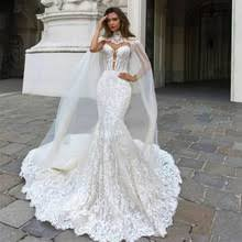 <b>Eightree</b> Customized Lace Mermaid Wedding Dresses Cathedral ...