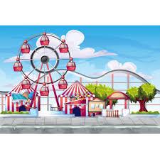 <b>Laeacco</b> Photo Backgrounds Baby <b>Cartoon</b> Playground Amusement ...