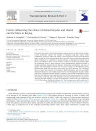 Factors influencing the choice of shared <b>bicycles</b> and shared <b>electric</b> ...
