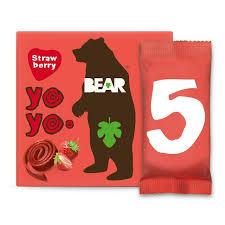 <b>BEAR Fruit</b> Yoyos Strawberry Multipack x5 20g   Sainsbury's