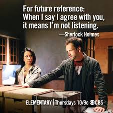 BuddyTV Slideshow | Fun 'Elementary' Memes: Some of Holmes ... via Relatably.com